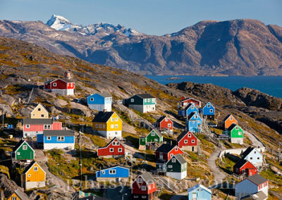 colourful houses in Kangaamiut, Greenland