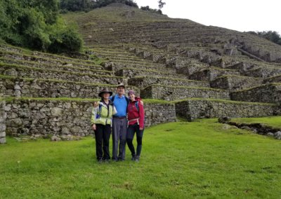 Bespoke clients, the Harquail Family Hiking the Inca Trail in Peru, South America.