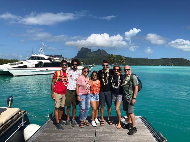 Bespoke clients , the Meltzer Family in Tahiti and Bora Bora.